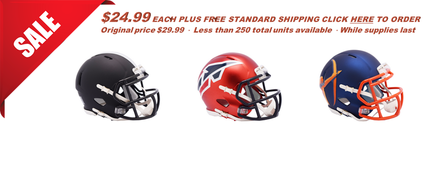 <i>Alliance of America Football Mini-Helmet Sale!</i>